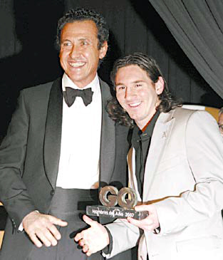Valdano con Messi