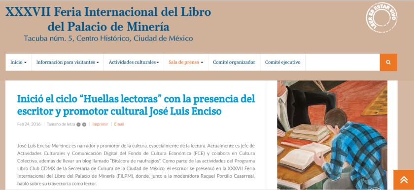 Jose Luis Enciso FIL Mineria Huellas Lectoras